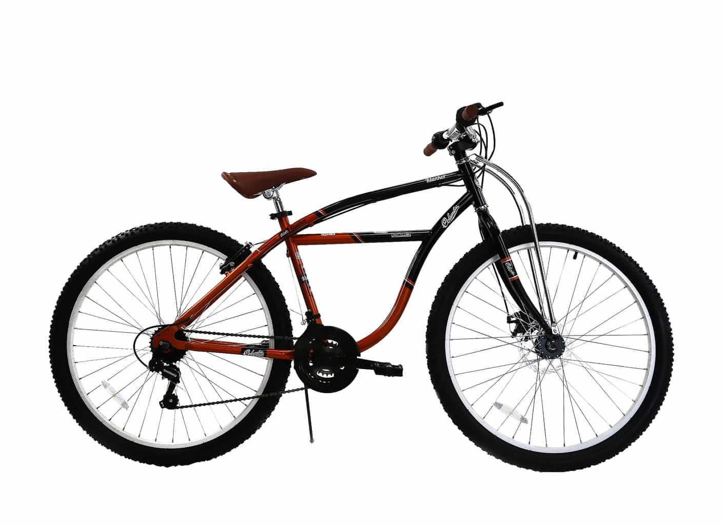 Spratly Brands 27.5 Columbia Klunker Mountain Bike - Black/Red/Brown