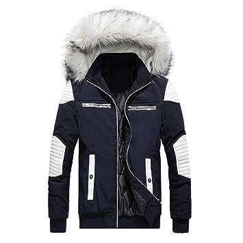 Hombre Abrigo de invierno Mezcla de algodón LILICAT❤ Abrigo medio largo Chaqueta con capucha