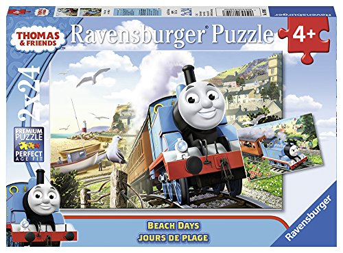 Ravensburger Thomas The Tank Puzzle - Ravensburger Thomas and Friends: Beach Days in a Box Puzzle 24 Piece Jigsaw Puzzle for Kids – Every Piece is Unique, Pieces Fit Together Perfectly