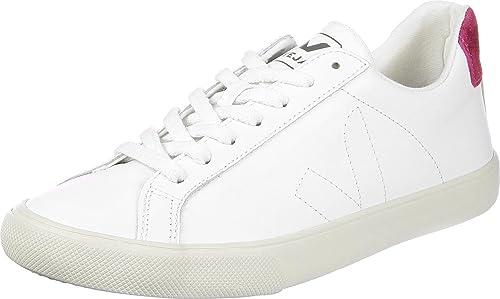 Veja Esplar LT Leather blanco/rosa - zapatillas mujer - Blanco, 38: Amazon.es: Zapatos y complementos