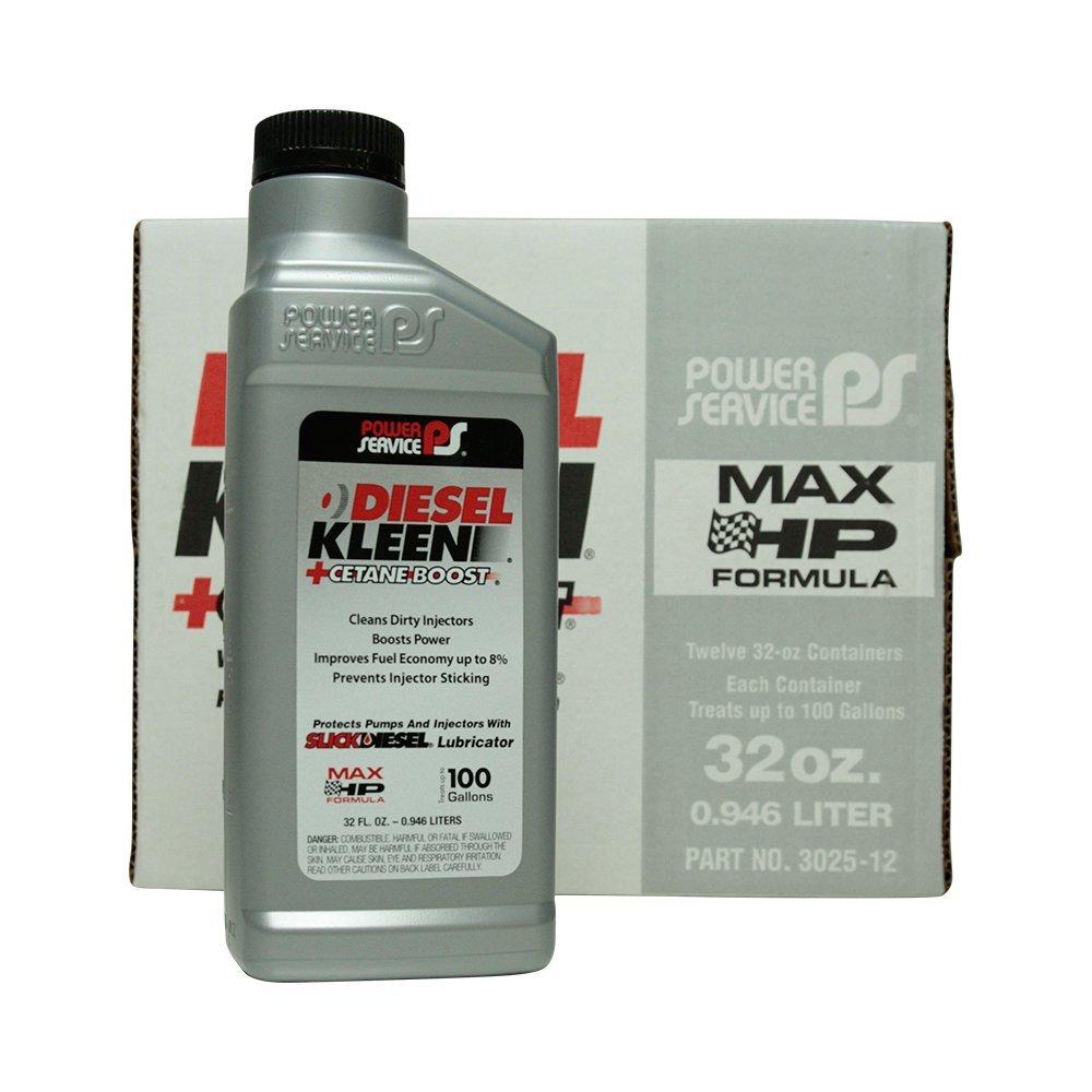 Power Service Diesel Kleen + Cetane Boost - 12/32oz. Bottles by Power Service