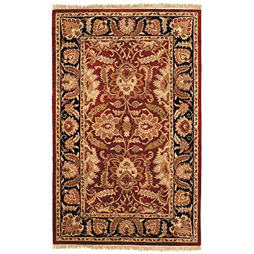 Safavieh Classic Collection CL239B Handmade Traditional Oriental Burgundy and Black Wool Area Rug (4' x 6')
