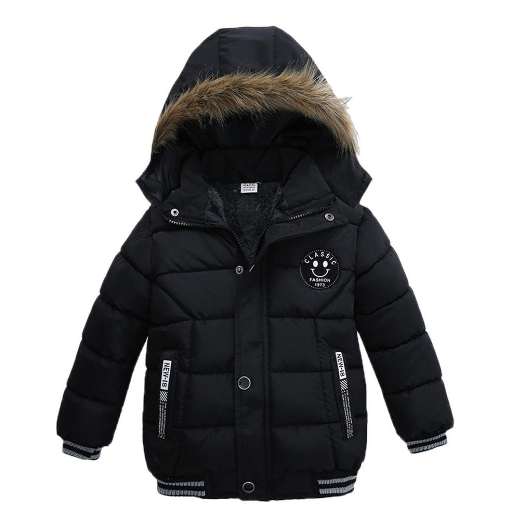 LNGRY Fashion Kids Coat Toddler Boy Girl Thick Coat Padded Winter Jacket Clothes
