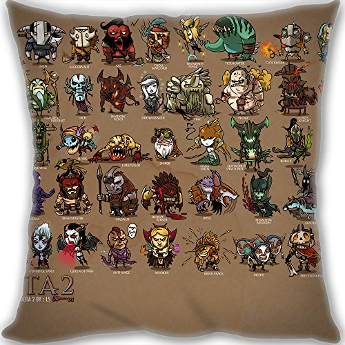 Christmas Gifts Custom DotA 2 Throw Pillow 45x45cm(18x18inch) Medium Size 450g(1lb) (include Pillow Inner)
