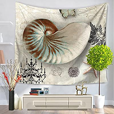 YJ-Bear Sea Animal Pattern Wall Hanging Tapestry Table Cloth Cover Non-Woven Weaving Yoga Mat Blanket Rectangle Indian Mandala Boho Beach Towel Throw