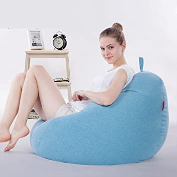 amazon com ehonestbuy large bean bag chair cover kids stuffed