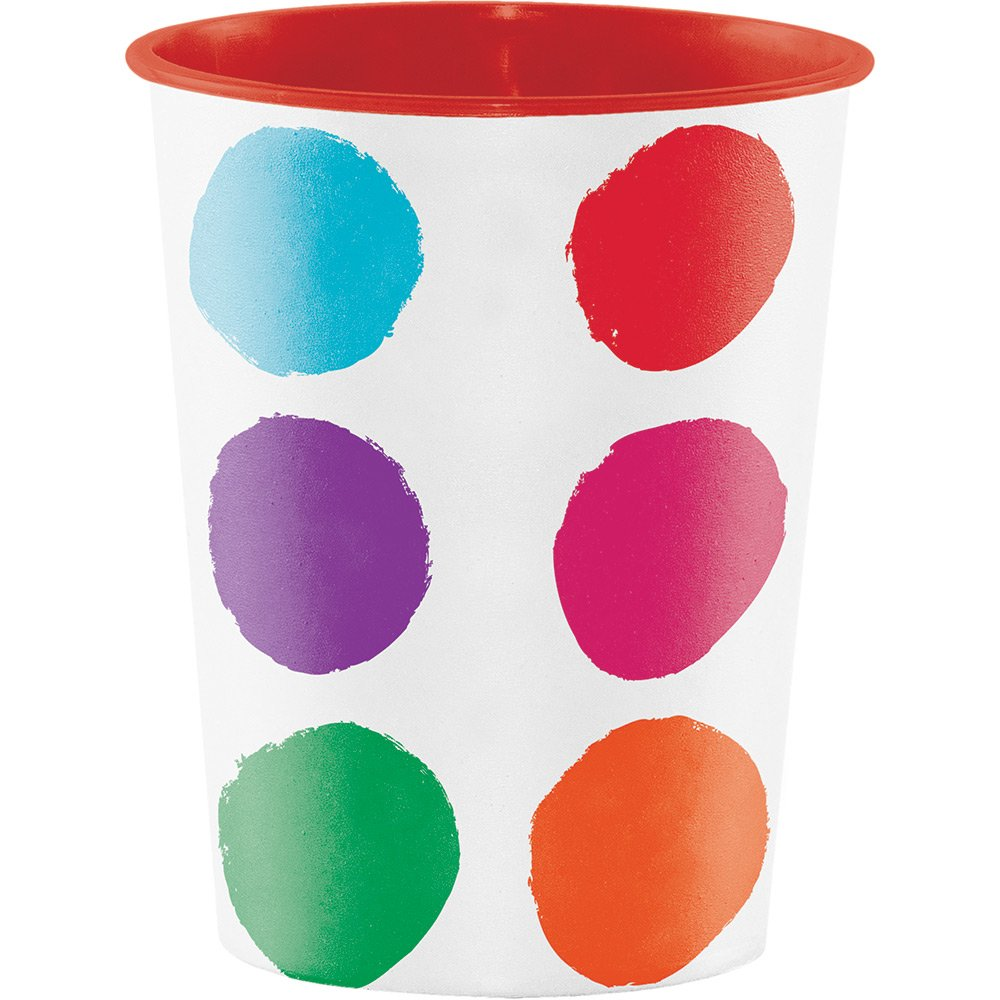 Creative Converting Plastic Keepsake Cups, Art Party (12-Count)