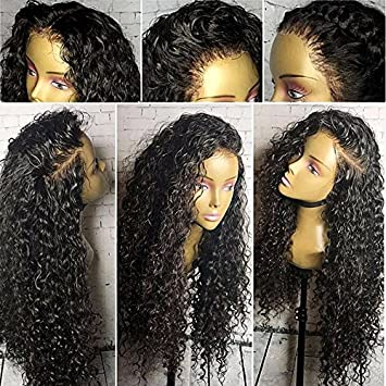 Brazilian Virgin Hair Full Lace Human Hair Wigs For Black Women 130% Density Deep Curly