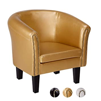 CCLIFE Chesterfield Armchair Stylish Tub Chair - Classic Design with ...