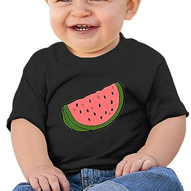 Amazon.com: Sandía Slice elegante bebé niña niño manga corta ...