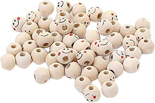 50x Wooden Beads White Cloud Spacer Beading Wood Beads Kids Handcrafts Toys
