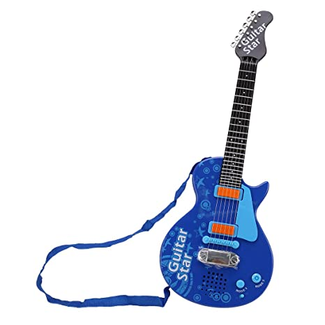 Amazon.com: Yamix Guitars for Kids Electric Musical Guitar Toy for Girls Beginners Toy Guitar for Boys (Blue): Toys & Games