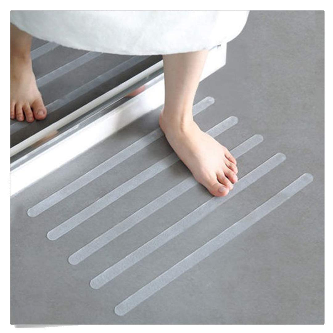 YoYoly 12Pcs/6pcs Multifunction Premium Home Kitchen Bathroom Anti Slip Bath Grip Stickers Non Slip Shower Strips Flooring Safety Tape (B-6Pcs)