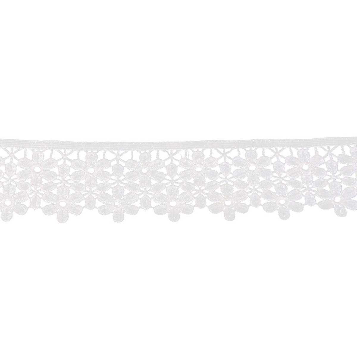 ROSENICE Lace Trim Embroidered Flower Lace Trimming Edging Trim Sewing Craft in Black,8cm 3yd