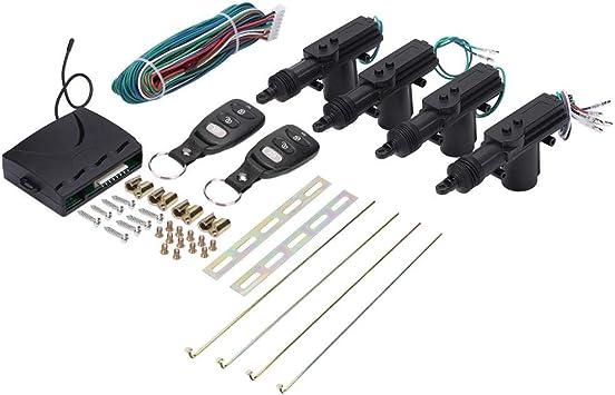 DEALPEAK Universal Antitheft Car Central Locking Remote Control Kit Door Lock Keyless Entry System with Control Box