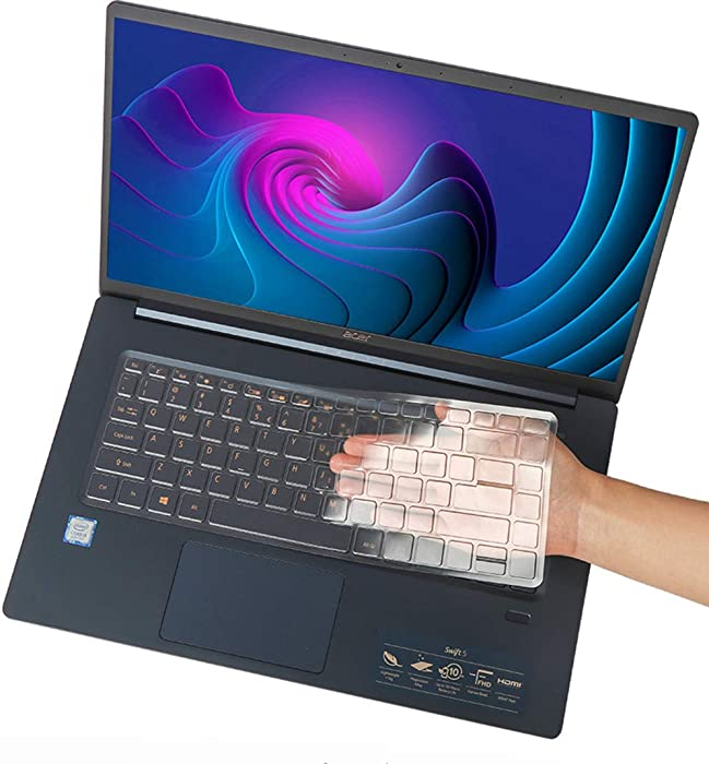 CaseBuy Ultra Thin Keyboard Cover for 2020 Acer Swift 5 SF515 15.6 inch Laptop, Acer Swift 5 15.6 Keyboard Protector, 15.6 Acer Swift 5 Accessories, TPU