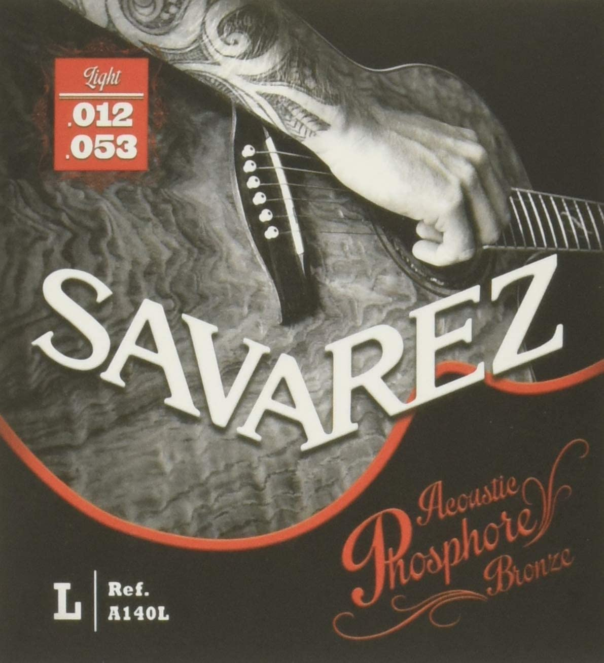 Savarez Cuerdas para Guitarra acústica juego acoustic phosphor bronze light .012-.053w A140L