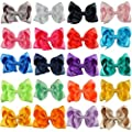 CN Baby Girls Rhinstone Hair Bows 4inch Grosgrain Ribbon Alligator Clips For Teens Babies Toddlers Children Pack Of 16