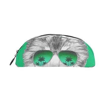 Gukenz - Estuche con diseño de cabeza de lobo con gafas de ...