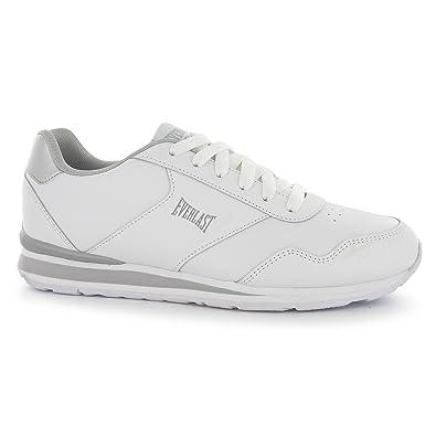 f981e7595b57a2 Everlast Damen Classic Turnschuhe Leder Sneakers Sport Schuhe Schnuerschuhe  Weiß Silber 6 (39)