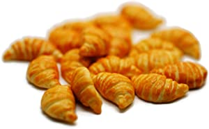 20 Psc Croissant Dollhouse Miniatures Food Kitchen by Cool Price