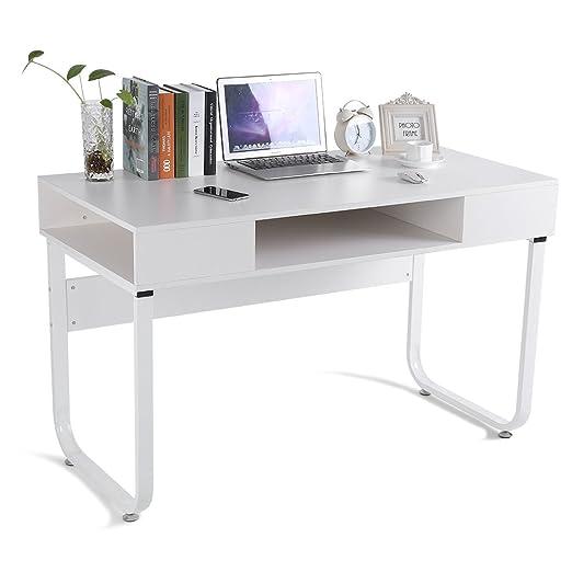 Zerone Escritorios Mesa de Ordenador 120 x 60 x 75cm, Oficina Mesa ...