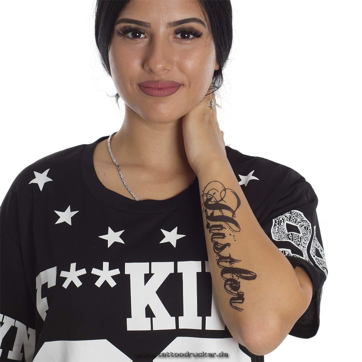 Hustler Tatuaje - Marcha Hip Hop Gangster - Escritura en Negro ...