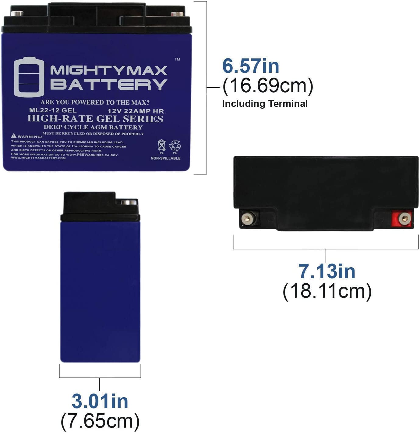 Mighty Max Battery 12V 22AH Gel Compatible for APC SU2200X106 SU2200X111 UPS 4 Pack Brand Product