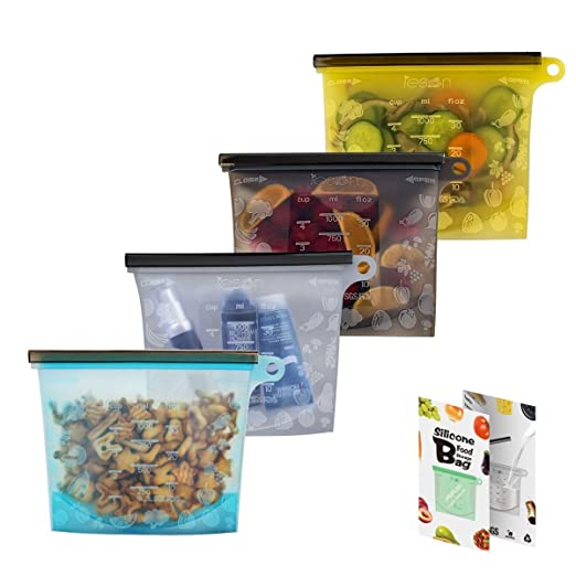Bolsas de silicona reutilizables para alimentos, bolsas de ...
