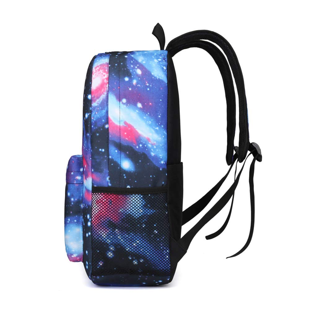 Unisex Galaxy Backpack Casual Canvas Book Bag School Backpacks for Girls Boys
