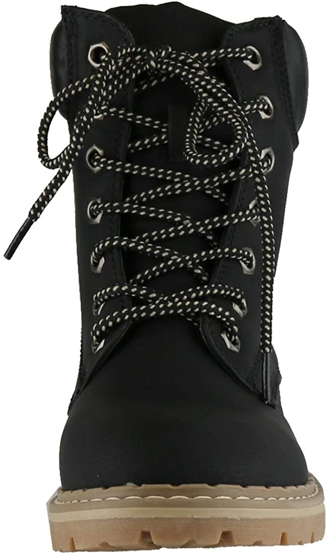 Cambridge Select Womens Work Combat Military Lace-Up Lug Sole Boot