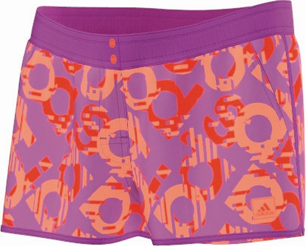 adidas Damen Short für Bikini Beach adidas Print Short lila