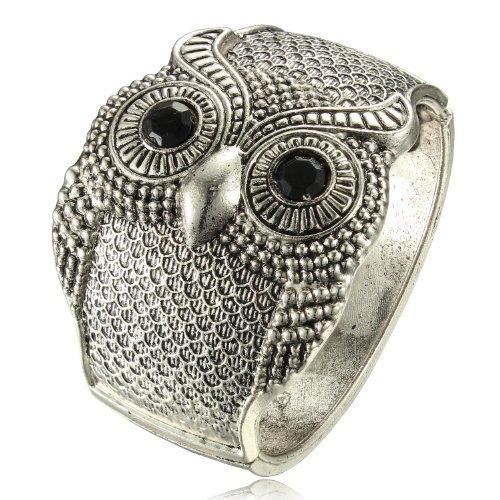Vintage 50mm Width Wide Owl Woman Cuff Bracelets [Jewelry]