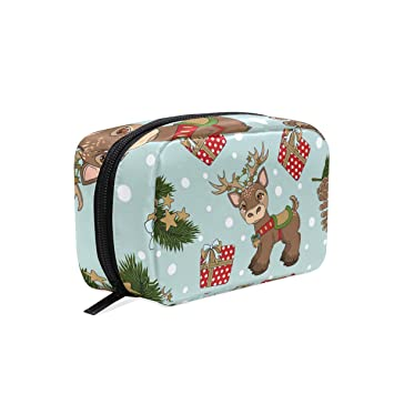 cc06d9303b9a Amazon.com : OREZI Christmas Reindeer Portable Travel Mini Makeup ...