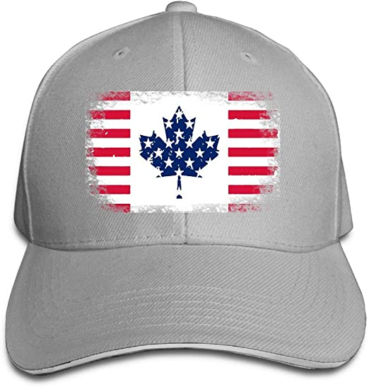 Unisex Usa Canada Friendship Traditional Flag Adjustable Sandwich Peaked Cap Hat At Amazon Men S Clothing Store