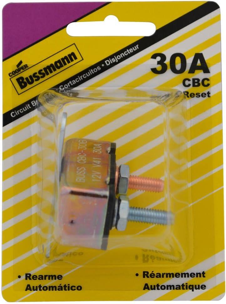BP//CBC-30B-RP Bussmann 30 Amp Type-I Stud Mount Circuit Breaker with Crosswise