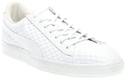 PUMA Men s Basketxmeek Bike Life White Ankle-High Patent Leather Fashion  Sneaker - 7M 048034fa3