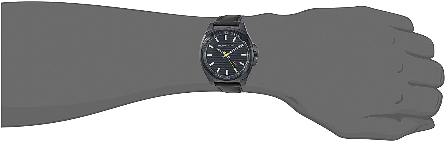 40994783c660 Amazon.com  Michael Kors Men s Bryson Stainless Steel Analog-Quartz Watch  with Leather Strap