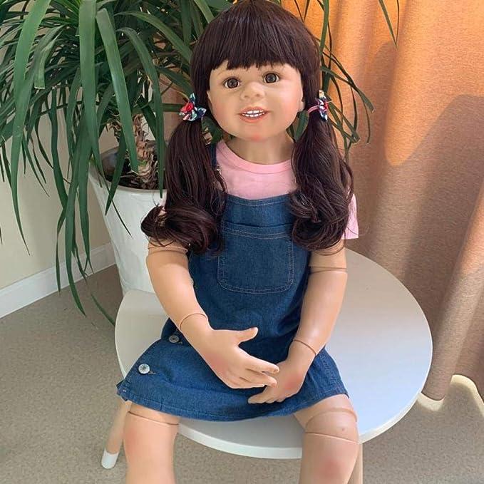 30 cm Simulation Vinyl Reborn Mädchen Puppe Rosa Spitzenkleid Kinder