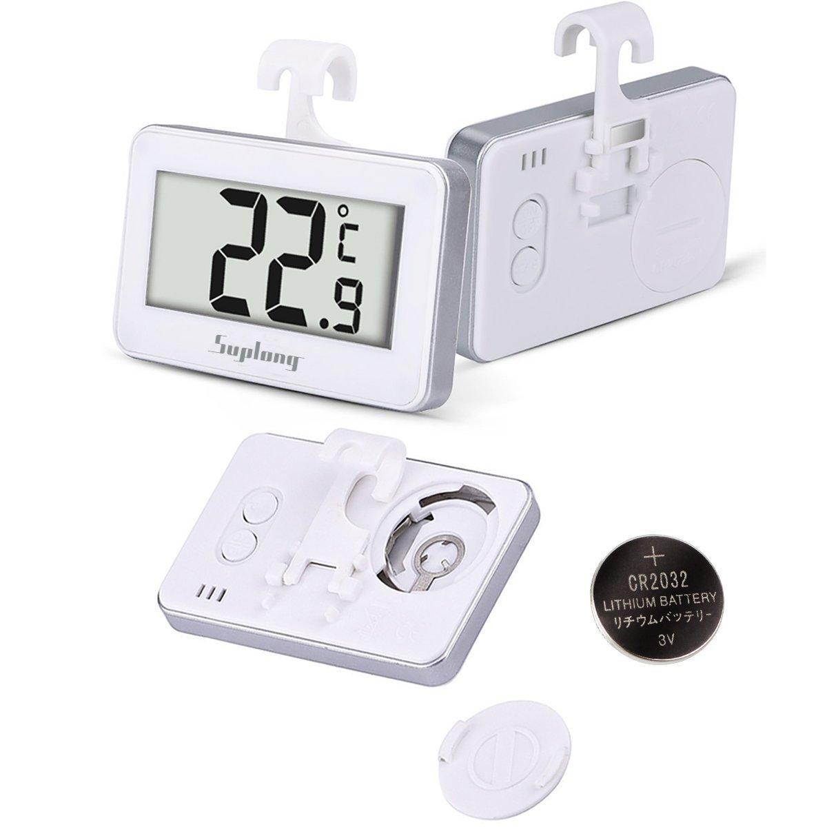 Termómetro del refrigerador, AIGUMI termómetro impermeable del congelador del refrigerador de Digitaces con la exhibición l ... (nevera-1)