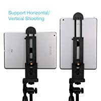 Ulanzi iPad Tablet Tripod Mount Adapter Flexible Adjustable Clamp Tablet Holder for iPad Air Pro,Microsoft Surface and Most Tablets (5inch-12inch Screen)