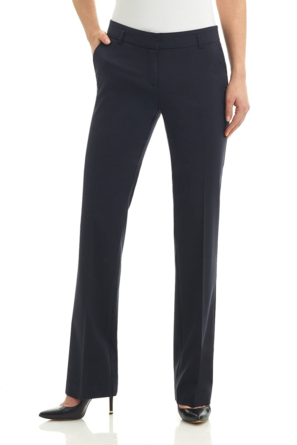 Rekucci Collection Women's Straight Leg Dress Pant with Double Loops