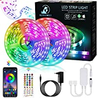 LED Strip,Bonve Pet 12M RGB LED Streifen LED Lichterkette mit Fernbedienung,Bluetooth APP Steuerbar,Sync zur...
