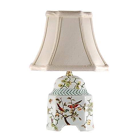 Song Birds Small Accent Table Lamp - Song Birds Small Accent Table Lamp - Small Porcelain Base Table