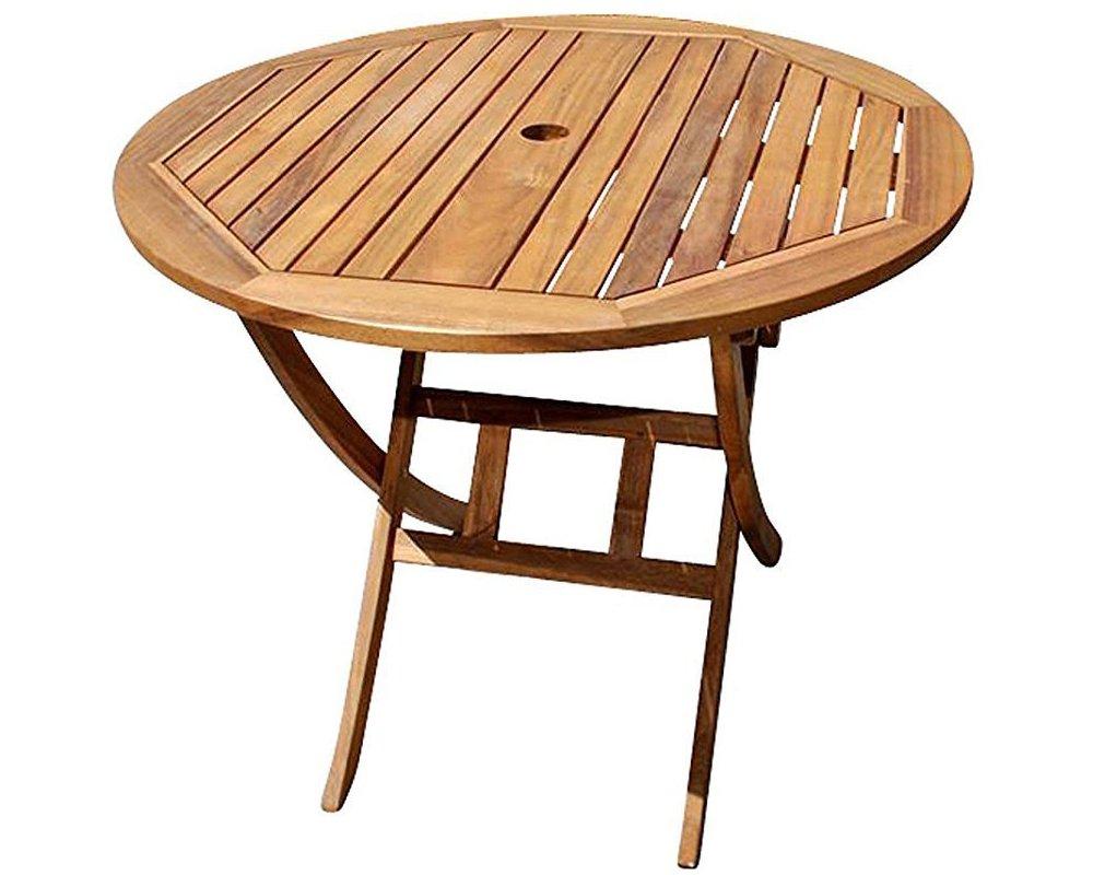 SAM Gartentisch Jasper klappbarer Holztisch mit Schirmloch, Akazienholz massiv