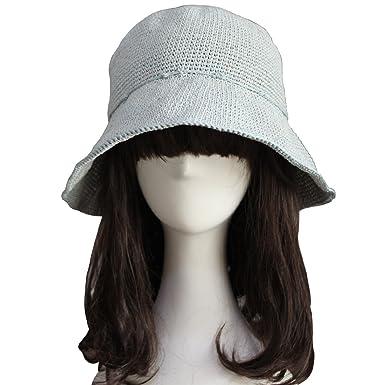 872820beb07 ZORJAR Knitted Hats for Women Handmade Linen Chic Fashion Crochet Bucket Hat  (Honeydew)