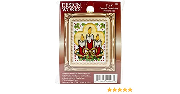 2-Inch x 3-Inch Tobin Wreath Ornament Counted Cross Stitch Kit