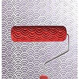 rouleau peinture avec motifs d coratifs pour machine motifs fleurs bleu 15 cm. Black Bedroom Furniture Sets. Home Design Ideas