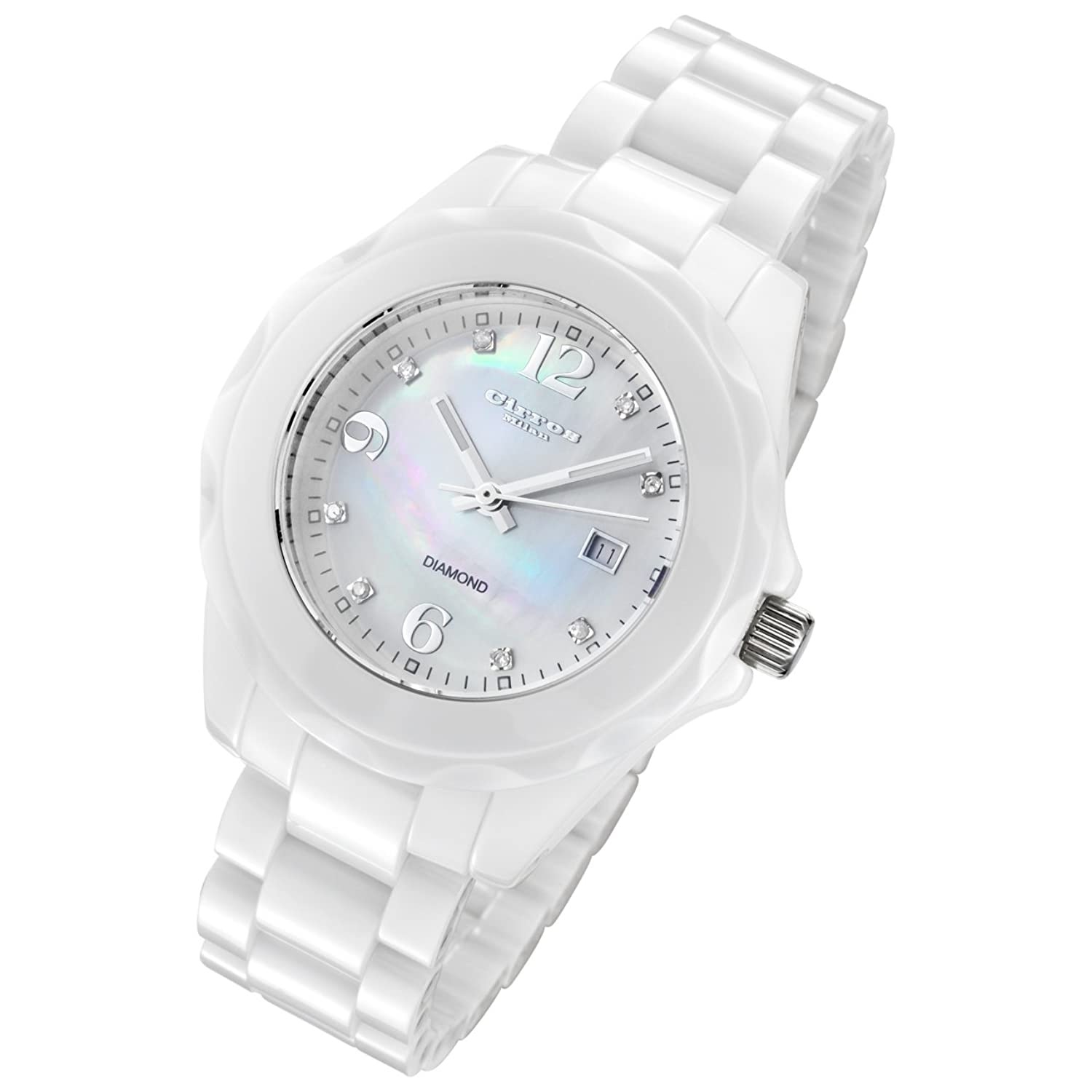 seiko lady white watches watch dial solar ladies titanium