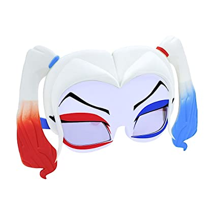 c23cf36b8a36 Amazon.com  Costume Sunglasses Harley Quinn Hair Mask Sun-Staches ...
